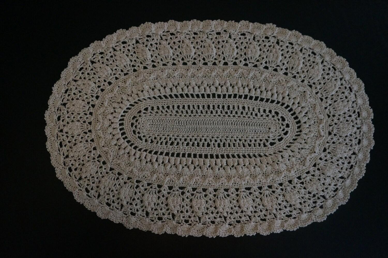 Ganchillo Tapete Oval Pi A Pi A Oval Tapetito Hogar Y Cocina -> Tapetes Para Sala Tejidos A Crochet