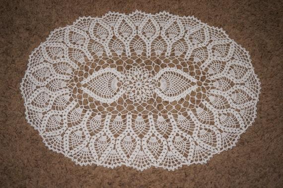Gehäkelte Deckchen ovale Häkeldeckchen ovale Ananas   Etsy