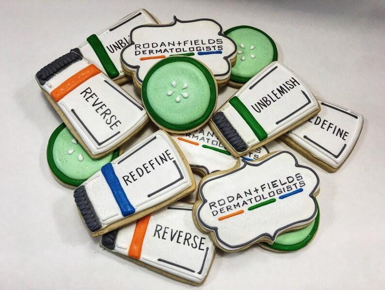 Roden & Fields inspired Skincare Inspired Custom Cookies - 1 Dozen!