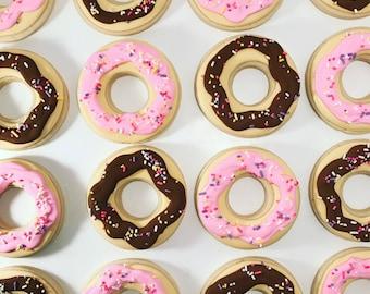 Donut cookies ~ Custom Cookies ~ Breakfast Cookies