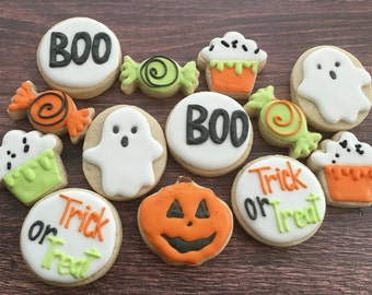 flash sale mini halloween cookies sugar cookies