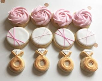 mini bridal shower cookies sugar cookies