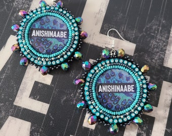 The Anishinaabe Collection - Peacock Print