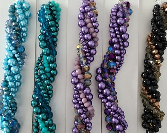 """Twisted Bead Strands - Six 5"""" bead strands in each set"""