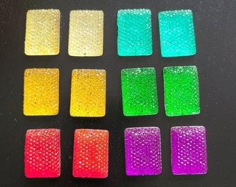 Rectangle Sparkle Sew on Stone - 12pcs