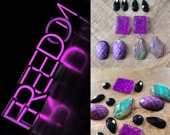 Freedom Assorted Gem Cabochon Set - 14pcs