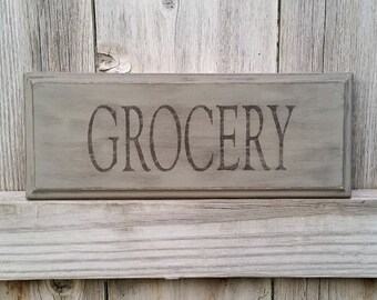 Grocery Sign - Farmhouse Sign - Farmhouse Wood Sign - Farmhouse Decor - Rustic Wood Sign - Kitchen Sign - Kitchen Decor - Kitchen Wall Art