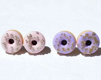 Chips donuts, donuts polymer, gourmet jewelry, jewelry, sweet, cute polymer clay creation, miniature greedy, chip donut