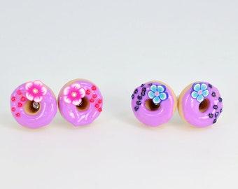 Aloha donuts, donuts, polymer, gourmet gem, aloha, creating cute polymer clay donuts earrings