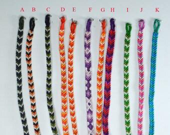 Friendship bracelets, friendship bracelets, embroidery thread macramé bracelet.