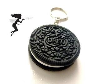 Keychain realistic Oreo polymer Fimo, regular size cookie polymer clay, Bisque, clay, polymer Fimo cookie accessory