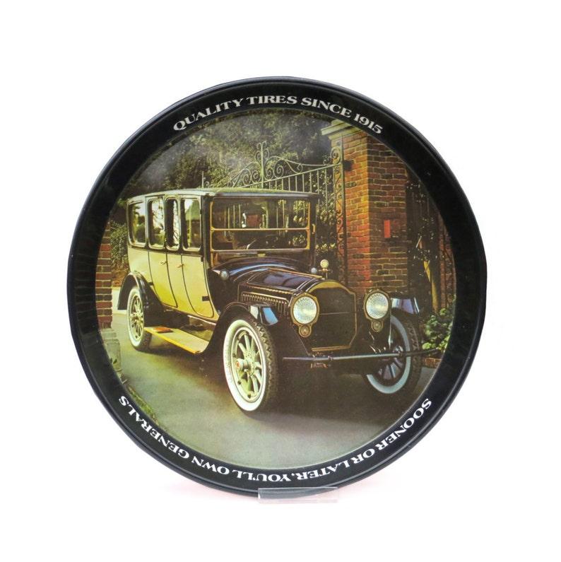d5d0370fad909 General Tire Packard publicité plateau 12 rond métal