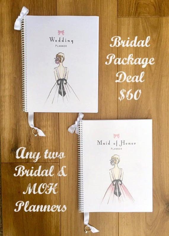 wedding planner book wedding organizer engagement gift maid of etsy