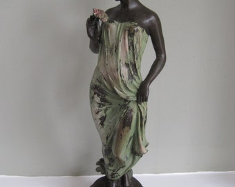 Art Deco Cold Painted Bronze Figure Signed Pittaluga