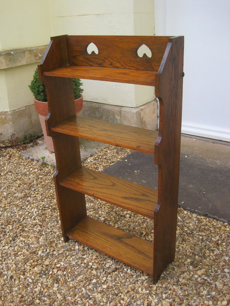 Sold Arts And Crafts Golden Oak Bookcase