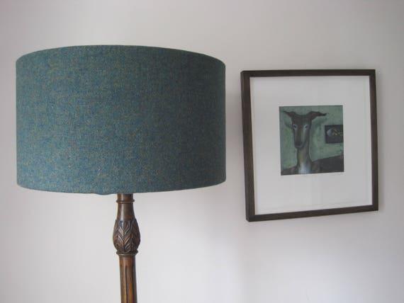 Handmade Harris Tweed Drum Lampshade, Handmade Lampshades Norfolk