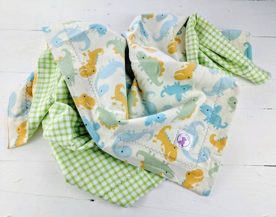 receiving blanket reversible blanket Dinosaur flannel baby blanket baby boy ready to ship baby blanket dinos baby shower gift