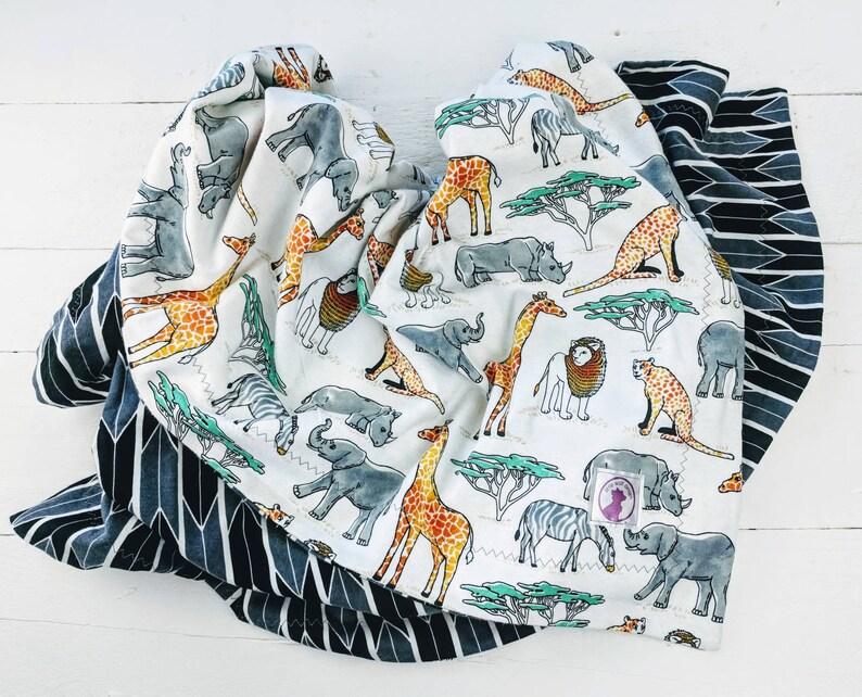 Hipster Modern Baby Blanket giraffe Safari blanket Flannel Safari nursery lion baby blanket Toddler Blanket Receiving Blanket