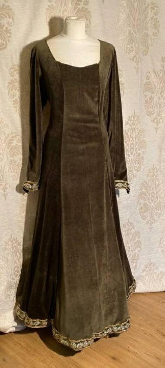 Moss Green Medieval Dress