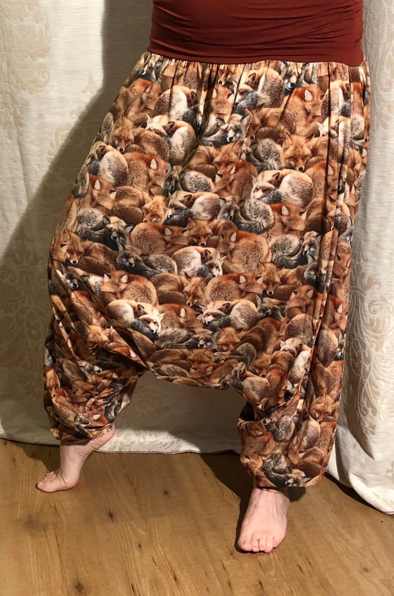 Harem pants with foxes