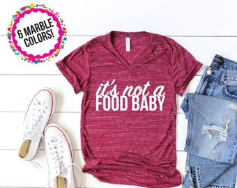 Pregnancy Announcement Shirt/ Pregnancy Announcement to Husband/ Pregnant Shirt/ Maternity Shirt/ Announcement Idea Food Baby Shirt Preggers