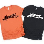 Mom and Dad Halloween Shirts/ Momster Shirt/ Dadcula Shirt/ Couples Halloween/ Trick or Treating/ Halloween Party/ Mom Shirt/ Dad Shirt