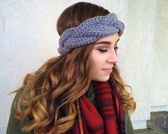 Braided Crochet Headband - Ear Warmer Headband - Fall Winter Headband  Earwarmer 055c15205fc