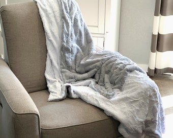 Plush Minky Blanket,  Pick Your Size, Matching Blankets