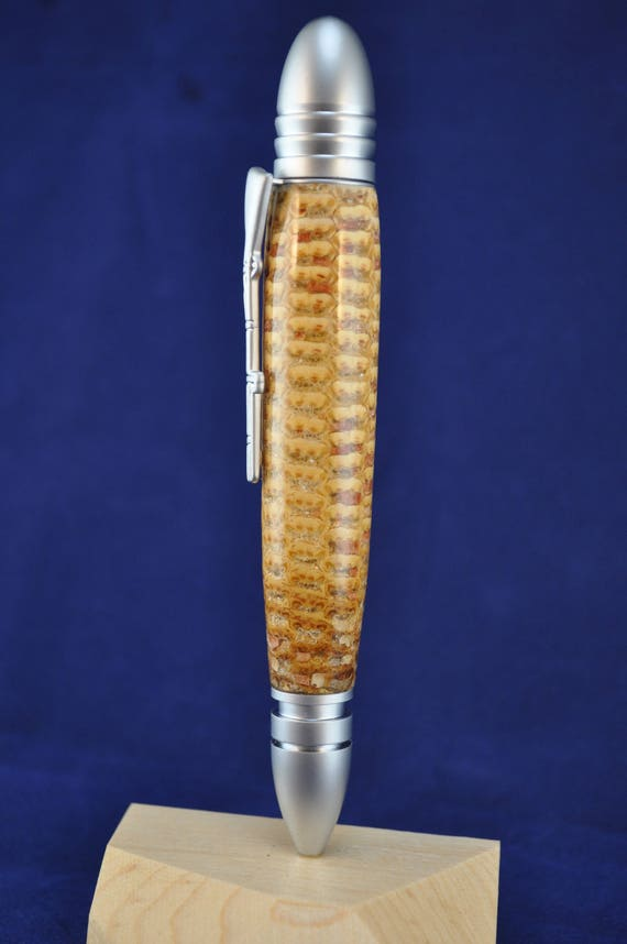 Civil War inspired Pen made with stabilized corn cob  8cf905779c07