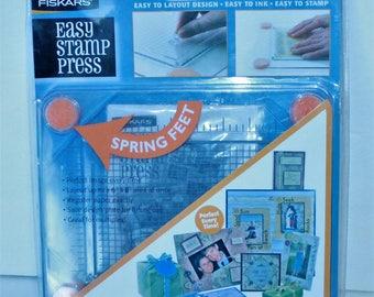 Fiskars Easy Stamp Press with Spring feet Sealed create borders, frames, etc 2006