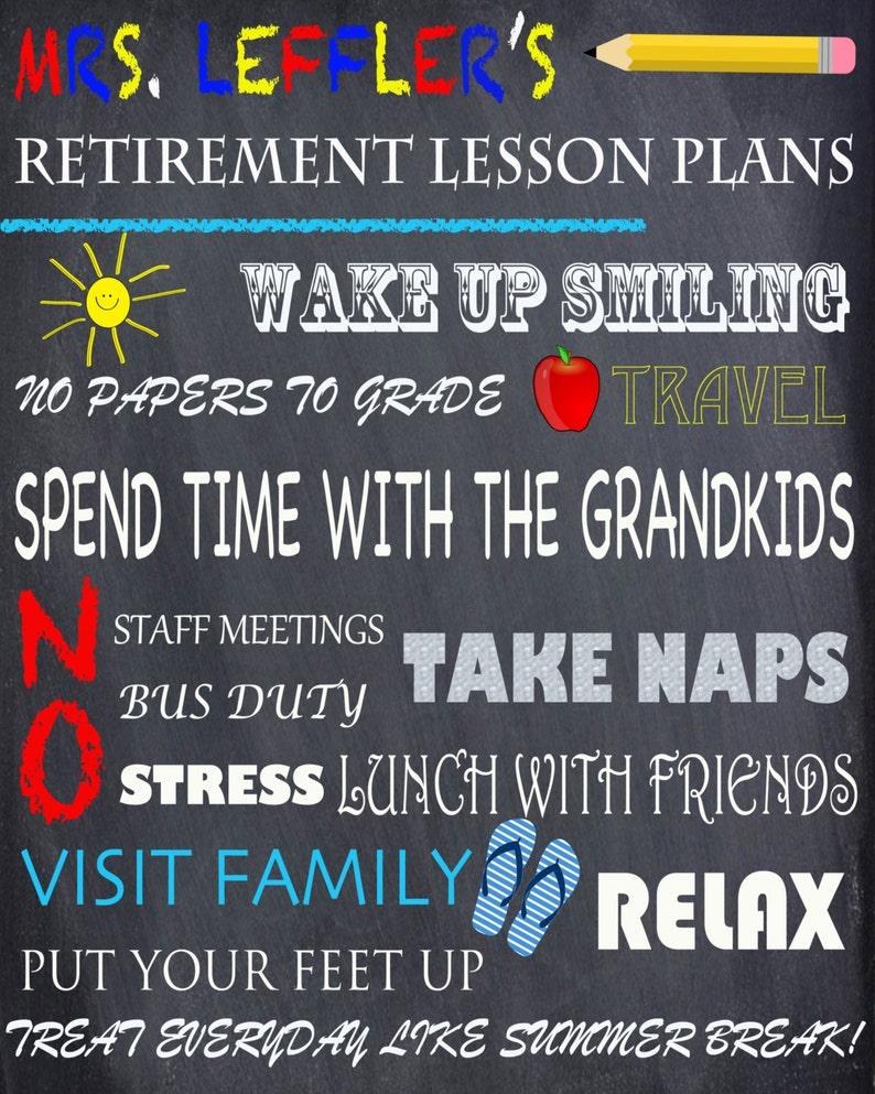 Teacher retirement chalkboard digital file- Print at home