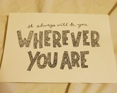Items similar to Wherever You Are - 5SOS on Etsy