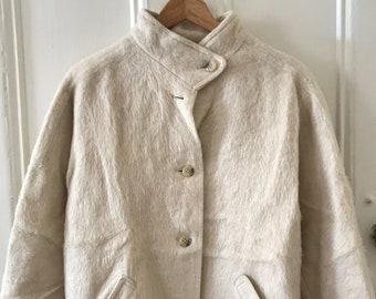W Vintage Lama Jacket  Wool Lamb Hair Oversized Original Germany Bebr Pietzcker Stuttgart