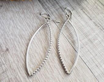 Sterling Silver Dangle Hoop Earrings