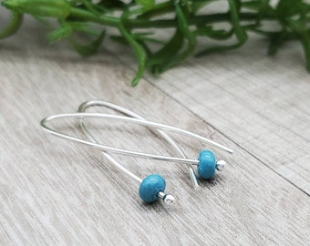 Sterling Silver & Turquoise Threader Earrings