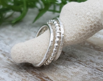 Sterling Silver Stack Rings / Stack / Sets