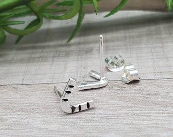 Small Sterling V Stud Earrings / Boho / Gypsy