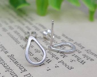 Sterling Teardrop Stud Earrings / Silver Studs