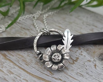 Sterling Silver Wildflower Necklace