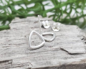 Small Sterling Triangle Stud Earrings