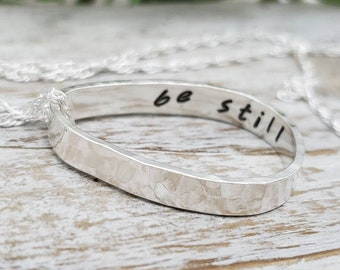 """Sterling Silver Secret """"Hidden Message"""" Necklace / Message Jewelry / Personalized Necklace"""