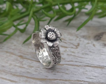 Sterling Silver Wildflower Ring / SIZE 8