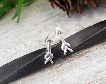 Arrow Stud Earrings / Sterling Arrow Studs