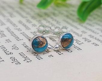 Turquoise Sterling Stud Earrings