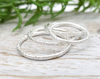 Sterling Silver Stack Rings / Stacker Rings / Sets