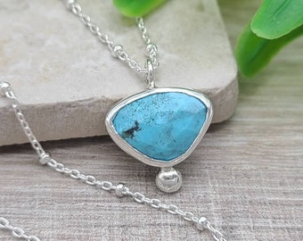 Sterling Silver & Turquoise Boho Necklace