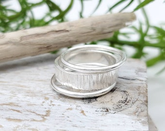 Sterling Hammered Stack Rings Set of 3