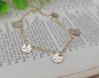 Gold Dainty Multi Disc Necklace / Minimalist / Boho