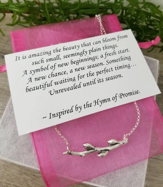 Sterling Silver Twig Necklace Bar Necklace New Beginnings Etsy