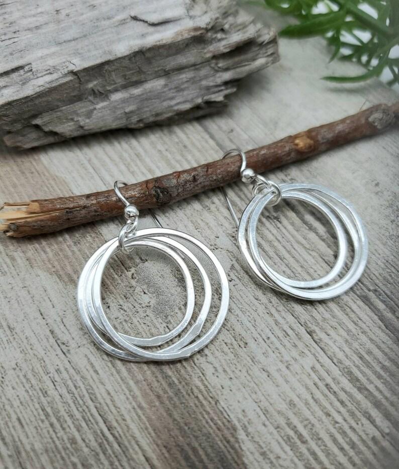 Sterling Multi Circle Hoop Earrings image 0